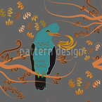 Peruvian Paradise Bird Seamless Vector Pattern Design