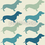 Dachshund Vintage Vector Ornament