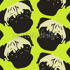 Puggy Pop Lime Design de padrão vetorial sem costura