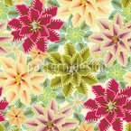 Only Flowers Love Unconditionally Seamless Vector Pattern Design