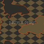 Dackel Setzt Herrchen Schachmatt Muster Design
