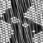 Schnürlregen Auf Gitterkreuz Nahtloses Vektormuster