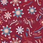 Blumen Tanzen Rot Nahtloses Vektormuster