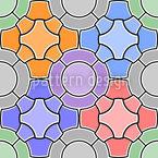 Mosaico Floral Design de padrão vetorial sem costura