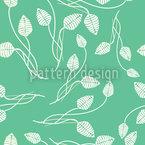 Blättertanz Auf Mint Nahtloses Vektormuster