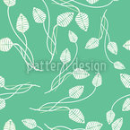 Flower Dance On Mint Seamless Vector Pattern Design