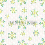 Snowfall In Spring Seamless Vector Pattern Design