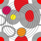 Circle Meeting Seamless Vector Pattern Design