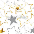 Stars Seam In The Snow Seamless Vector Pattern Design