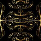 Schnörkel In Gold Nahtloses Vektormuster