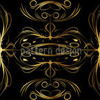 Spinning Gold Seamless Vector Pattern Design