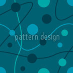 Circular Rounds Petrol Repeating Pattern