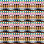 My People Of The Guarani Kaiowa Seamless Vector Pattern Design