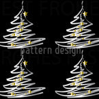 Christmas Tree With Gold Decor Seamless Vector Pattern Design