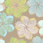 Folded Flower Tenderness Seamless Vector Pattern