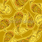 Goldrausch Der Paisley Nahtloses Vektormuster