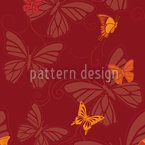 Butterflies At Sunset Seamless Pattern