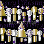 Candle Light Christmas Seamless Vector Pattern Design