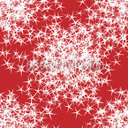 Stars Sparkle On Red Seamless Vector Pattern