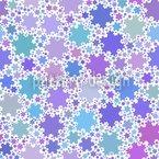 Fraktale Schneeflocken Muster Design