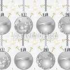 Star Twinkle With Silver Baubles Pattern Design