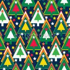 Era uma vez sobre uma árvore de Natal Design de padrão vetorial sem costura