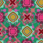 Boogie na Flor Design de padrão vetorial sem costura