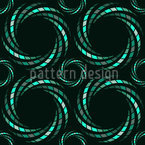 Mosaic Spirals Seamless Vector Pattern Design