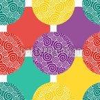 Spiralkugeln Kunterbunt Designmuster