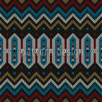 Knitted Ethno Seamless Vector Pattern Design