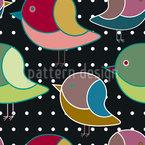 Wenn Vögelchen Träumen Nahtloses Vektormuster