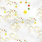 Comet Fireworks Seamless Vector Pattern Design