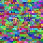 Colorful To The Square Seamless Vector Pattern Design