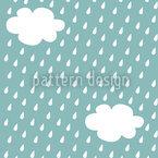 Es Regnet Nahtloses Vektor Muster