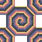 Mandala Im Oktagon Rapportiertes Design