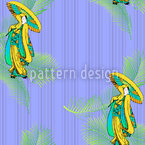 Geisha Tropical Design Pattern