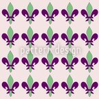 Fleurs De Lis Printemps Estampado Vectorial Sin Costura