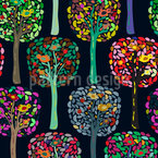 Cecilias Trees Seamless Vector Pattern Design