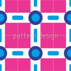 Circles And Squares In Miami Repeat Pattern