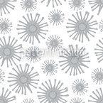Monochrome Starflowers Repeat