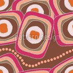 Die Schlange Frühstückt Im Outback Designmuster
