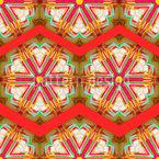 Kaleidoskop Zickzack Rot Nahtloses Vektor Muster