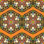 Kaleidoskop Zickzack Braun Vektor Muster