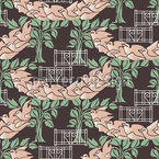 Les Oiseaux Du Jardin Nahtloses Vektor Muster