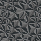 Paper Geometry Dark Grey Seamless Vector Pattern Design
