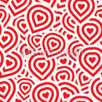 Campinos Heart Seamless Vector Pattern Design