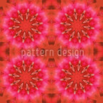 Pandora Flora Red Seamless Vector Pattern Design
