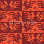 Solar Rooster Dance Seamless Vector Pattern Design