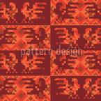Sonnenhähne Tanzen Designmuster