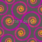 Glowing Vortex Seamless Vector Pattern Design